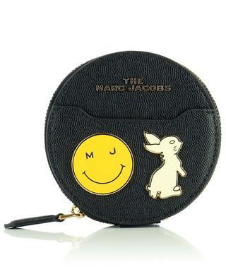 The Circle Wallet embellished textured leather micro bag MARC JACOBS