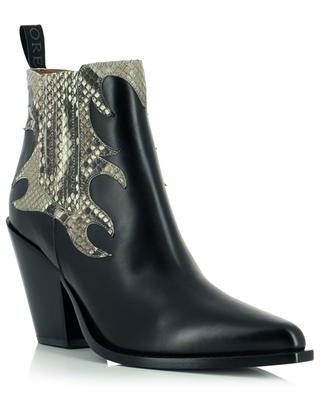 Smooth and snake skin leather western spirit booties SARTORE