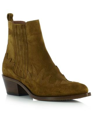 Sky suede ankle boots with flame patterns SARTORE