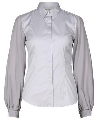 Cotton-blend shirt with silk sleeves CAMICETTASNOB
