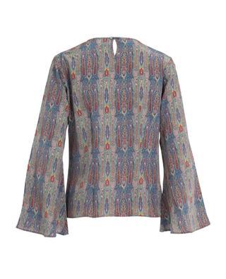 Bluse aus bedruckter Seide CAMICETTASNOB