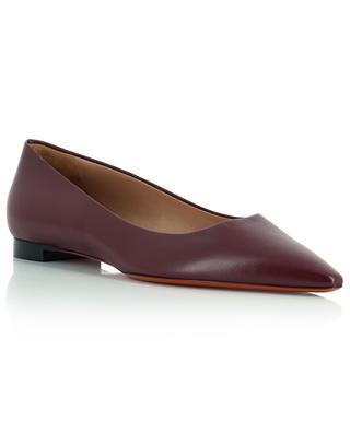 Pointy toe nappa leather ballet flats SANTONI
