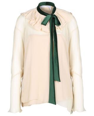 Seiden-Bluse mit Schluppe CHLOE