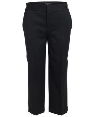 Pantalon large raccourci en laine DSQUARED2