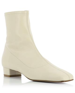Este leather heeled ankle boots BY FAR