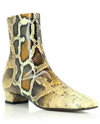 Este patent leather reptile ankle boots BY FAR