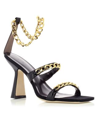 Gina high heeled leather sandals with chain BY FAR