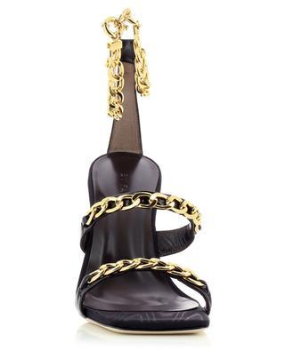 Sandales en cuir à talon avec chaîne Gina BY FAR