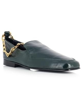 Nick creased leather loafers with chain BY FAR