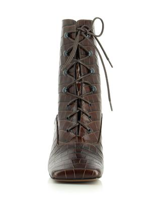 Claude croc effect leather ankle boots BY FAR
