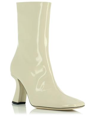 Demi 85 square toe heeled patent leather ankle boots BY FAR