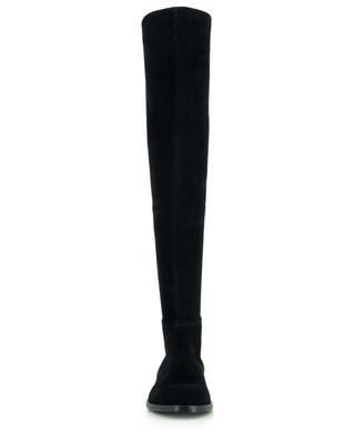 Flat zippered supple suede boots BONGENIE GRIEDER