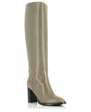 Block heeled smooth leather boots BONGENIE GRIEDER