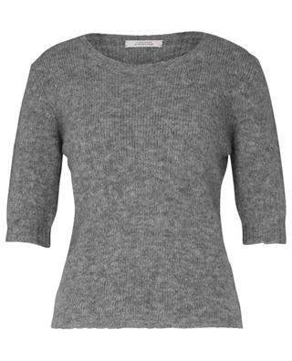 SOFT FLASH alpaca and wool-blend jumper with short sleeves DOROTHEE SCHUMACHER
