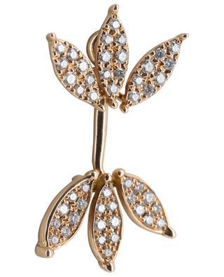 Mono-boucle d'oreille en or rose et diamants Ailes GBYG