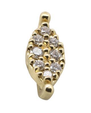 Einzelner Ohrstecker aus Gelbgold mit Diamanten Aile GBYG