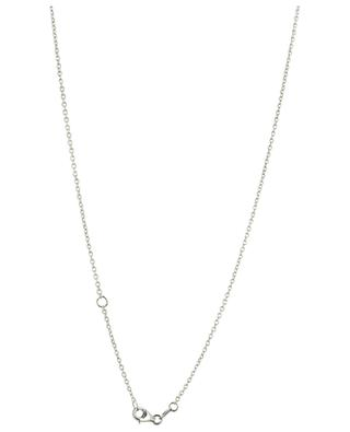Collier en or blanc avec lettrage et diamant Amour GBYG