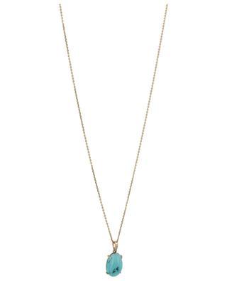 Collier en or rose orné d'une turquoise et de diamants Arizona GBYG
