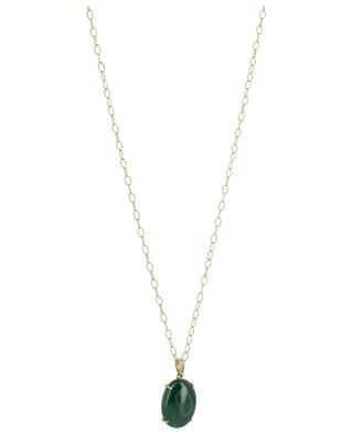 Collier en or jaune avec diamants et malachite Rabat GBYG