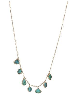 Collier en or rose orné de turquoises Infinity GBYG