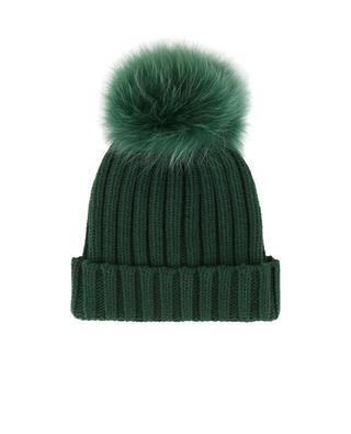Mütze aus Wollmischgewebe mit Pelzpompon NIMA
