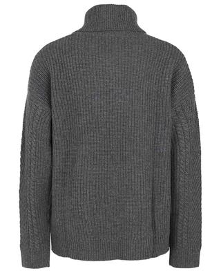 Boxy cable knit jumper in cashmere with turtleneck BONGENIE GRIEDER