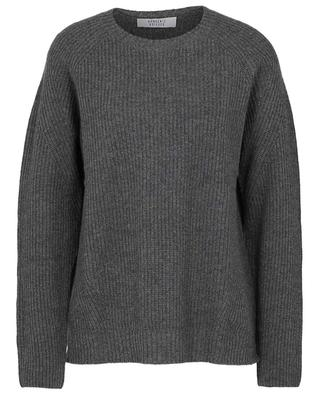 Boxy cashmere rib knit jumper with raglan sleeves BONGENIE GRIEDER