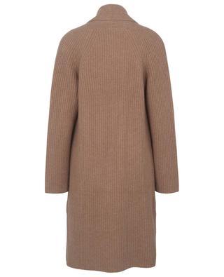 Long open rib knit cashmere cardigan BONGENIE GRIEDER