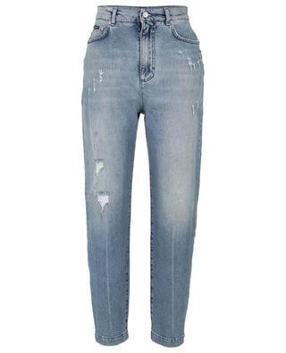 Boyfriend-Jeans im Used-Look aus Baumwollmix DOLCE & GABBANA