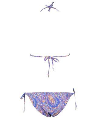 Bikini triangle à nouer en lycra imprimé paisley ETRO