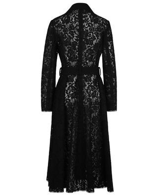 Manteau à boutonnage double en dentelle et crêpe Noir Sicilia DOLCE & GABBANA