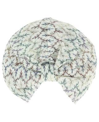 Lurex embellished knit turban MISSONI MARE