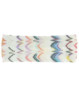 Rainbow zigzag knit headband MISSONI MARE