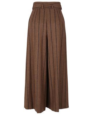 Pantalon large raccourci en alpaga mélangé DOLCE & GABBANA
