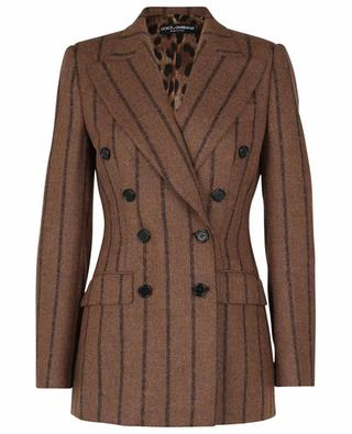 Striped alpaca and wool double breasted blazer DOLCE & GABBANA