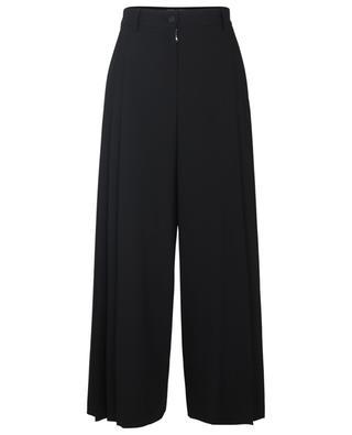 Jupe culotte détails plissés en laine stretch DOLCE & GABBANA