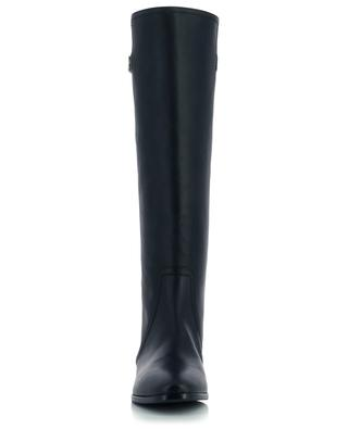 Caroline Napoli 20 flat leather boots with monogram DOLCE & GABBANA