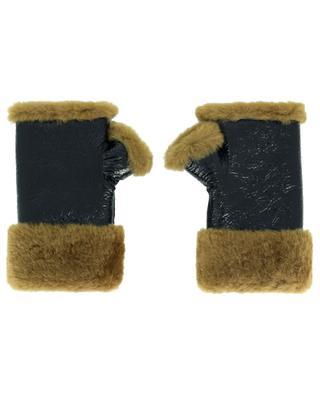 Fingerless lambskin and lamb fur gloves YVES SALOMON