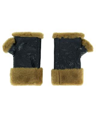 Fingerlose Handschuhe aus Lammleder und -fell YVES SALOMON