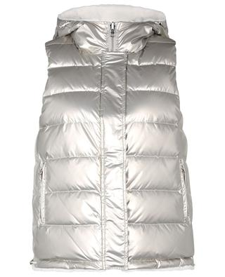 Reversible quilted vest in technical fabric and fur YVES SALOMON