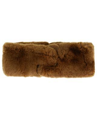 Stirnband aus Kaninchenpelz mit Knoten-Detail YVES SALOMON
