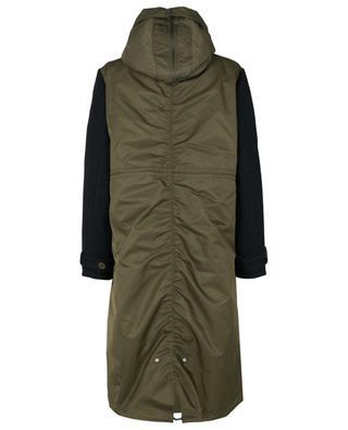Parka chaude en nylon, laine et cachemire garnie de fourrure d'agneau Y SALOMON ARMY