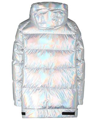 Boxy iridescent silver down jacket Y SALOMON ARMY