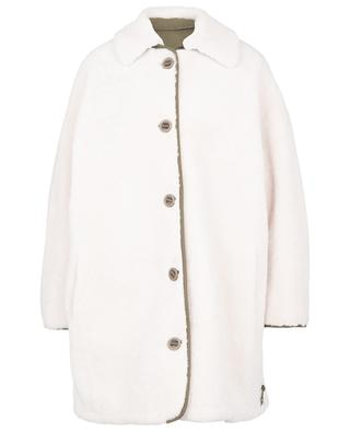 Manteau réversible en peau lainée et tissu technique Y SALOMON ARMY