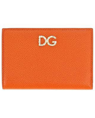 Portefeuille en cuir texturé dauphine DG Crystal DOLCE & GABBANA