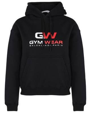Kurzes Kapuzensweatshirt mit GW-Print Small Fit Hoodie BALENCIAGA