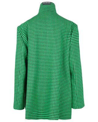 Manteau trapèze ample en laine motif pied-de-poule BALENCIAGA