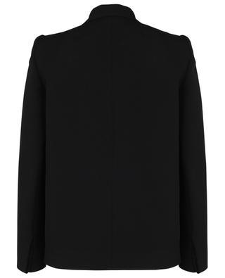 Curved shoulder single-breasted wool blazer BALENCIAGA