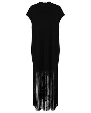Fringed loose ribbed sleeveless dress BALENCIAGA
