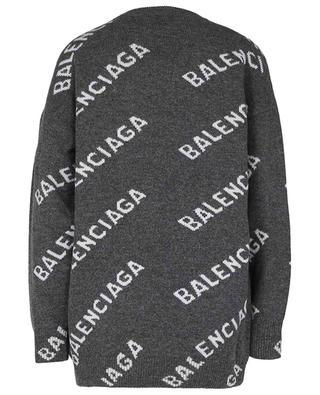Oversize-Wollpullover Logo Jacquard BALENCIAGA